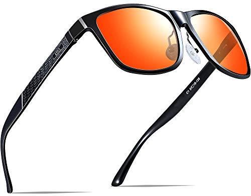 ATTCL Hombre Gafas de sol Polarizado Al-Mg Metal Super...