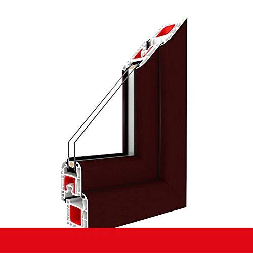Kunststofffenster braun maron Dreh Kipp 2-fach 3-fach Verglasung alle Größen, Anschlag:DIN Rechts, Glas:2-Fach, BxH:1100x900 (110x90 cm)