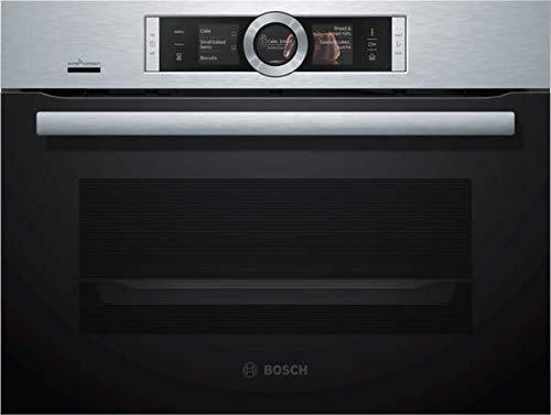 Bosch Serie 8 CSG656RS7 - Horno (Medio, Horno eléctrico, 47 L, 47 L, 30 - 100 °C, Negro, Acero inoxidable)
