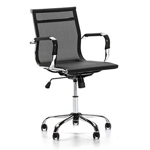 VS Venta-stock Sillón de Oficina Oxford reclinable, Tejido Transpirable, Silla ejecutiva con reposabrazos, Altura Ajustable, Diseño ergonómico