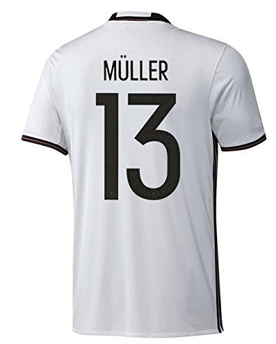 adidas DFB DEUTSCHLAND Trikot Home Herren EURO 2016 - MÜLLER 13, Größe:M