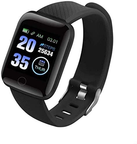 JSL Reloj inteligente 1.3 con pantalla táctil completa, resistente al agua, IP68, monitor de ritmo cardíaco y monitor de sueño, reloj inteligente para hombres y mujeres, negro