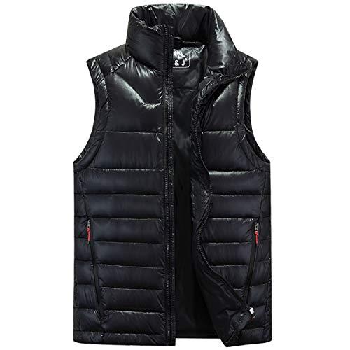 Winter Heren Down Jack, Outdoor Fluffy Vest Lichtgewicht Jas Warm Camping Suit