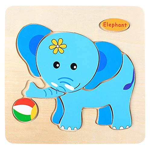 Juguetes para niños CebbayRegalo del día de los niños,Juguete de Entrenamiento Educativo para niños de Rompecabezas de Madera para bebés