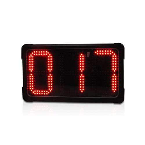 HttKse Stoppuhr Durable 8 Zoll Wanduhr LED Digital Multi Functional Fernbedienung Training Timer Perfekt für Fitness-Studio (Color : Black, Size : 38X20X7CM)
