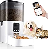 Balimo 6L Automatic Cat&Dog Feeder with App Control, Full 1080HD WiFi Camera and Night Vision with Timer Programmable Control, Anti-Blocking Design and Voice Recording 1-8 Meals per Day for Pets