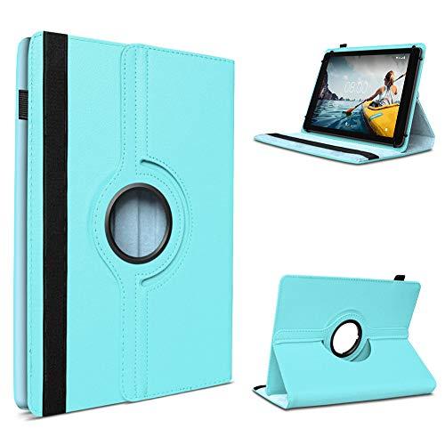 UC-Express Tablet Hülle kompatibel für Medion Lifetab P10710 P10612 P10610 P10603 P9701 P9702 P10606 P10602 X10605 X10607 P10506 Standfunktion 360° Drehbar, Farben:Türkis