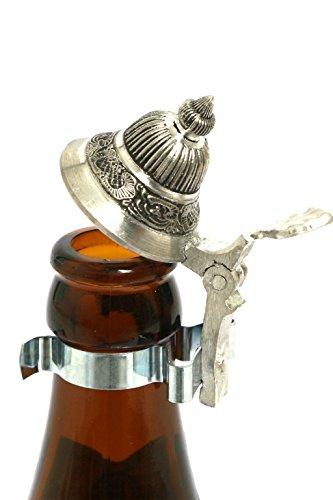 Bavariashop Bierflaschen Zinndeckel - Made in Germany! Insektenschutz für die Bierflasche; Silberfarben