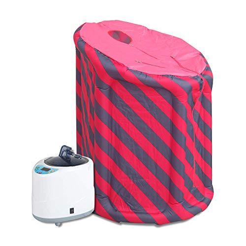 Dampfsauna für Zuhause Saunen Sauna Tragbare Aufblasbare mit Dampferzeuger, Premium Sauna Spa Zimmer Negative Lonen Detox Dampfsauna Verdrahtete, mit drahtloser Fernbedienung, 2L/ 4L