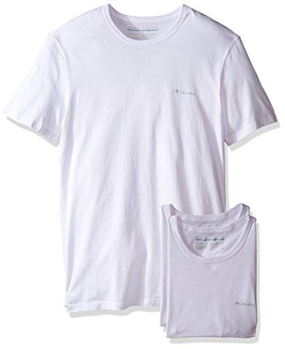 Columbia Men's 3 +1 Bonus Pack Cotton Crew Neck T-Shirt, White/White, Medium