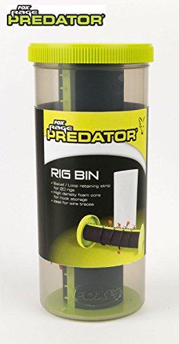 Fox Rage Predator Rig Bin zur Aufbewahrung von fertigen Rigs, Transport, Schaumstoff, für 20 Rigs, Raubfischvorfach, Vorfachbox
