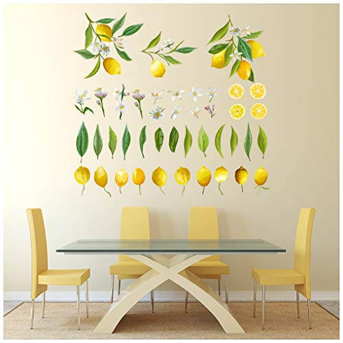 azutura Zitronen Obst Wandtattoo Set in 8 Größen erhältlich Digital