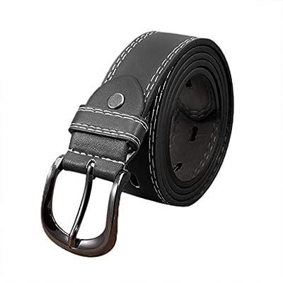 Manzzy Women Leather Belt Womens Dress Jeans Belt Luxury Leather Buckle Belt