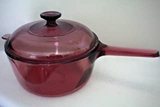 Corning Vision Visions 2.5 L Cranberry Saucepan with Lid