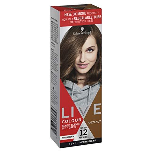Schwarzkopf LIVE Colour Semi Permanent Hair Colour Hazelnut 75ml