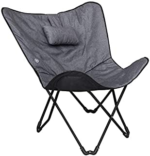Sharper Image SMG3006GY Foldable Shiatsu Massage Butterfly Chair with Built in Pillow