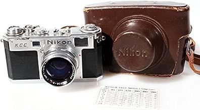 NIKON S2 RANGEFINDER W/NIKOR-S 50MM F1.4 Lens and CASE