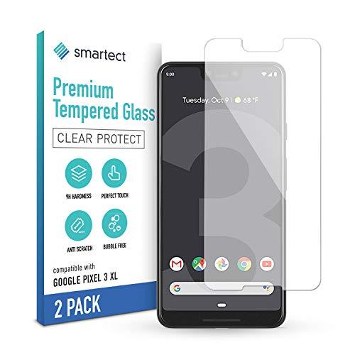 smartect Schutzglas kompatibel mit Google Pixel 3 XL [2 Stück] - Tempered Glass mit 9H Festigkeit - Blasenfreie Schutzfolie - Anti-Kratzer Bildschirmschutzfolie