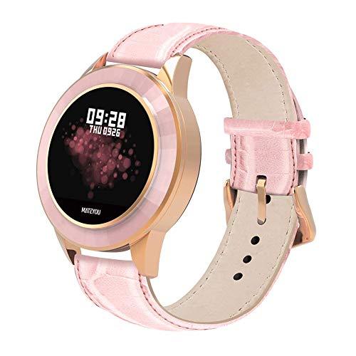 TIANYOU Mate6 Smart Watch, Lady Heart Foate Monitor de Presión Arterial Ip68 Pulsera de Aptitud Deportiva a Prueba de Agua para Android Ios Teléfono Niña Regalo Regalo de vacaciones