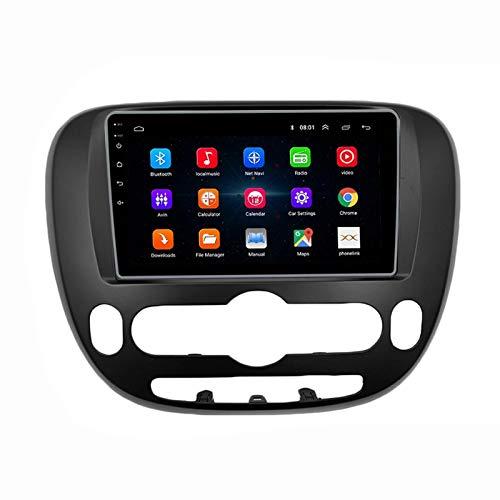 MGYQ Radio De Coche Bluetooth con Pantalla Táctil 1080P De 9 Pulgadas, para Kia Soul 2 PS 2013-2019 Autoradio Soporte Control del Volante FM/1080P Video/USB/AUX Reproducción,Quad Core,WiFi 1+32