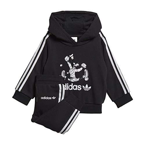 adidas Originals unisex-baby Goofy Hoodie Black 6M