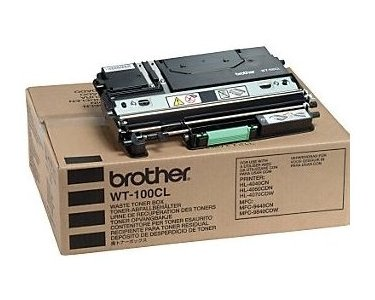Original Resttonerbehälter Brother WT100CL WT-100CL - Premium Tonerbehälter - Farblos - 20000 Seiten