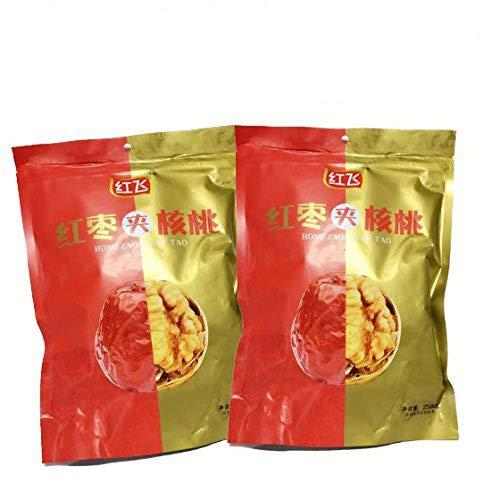 紅棗夾核桃【2袋セット】 干し赤棗とクルミの組み合わせ 栄養たっぷり 人気お菓子 中華食材 258gX2袋