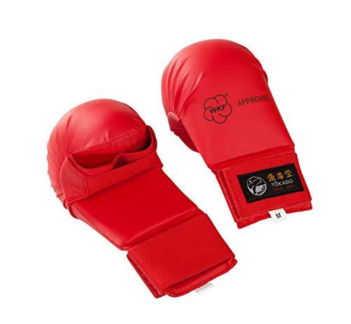 Tokaido Unisex– Erwachsene Kumite Gloves Karate Faustschützer, rot, XL