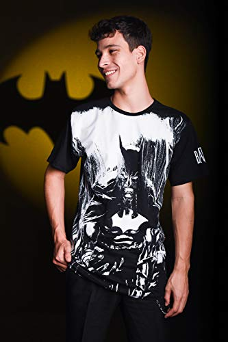 Camiseta Batman Chuva, Piticas, Unissex, Preto, 14
