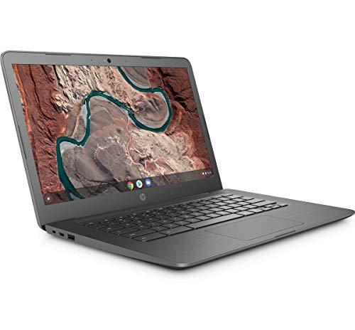 HP Chromebook 14-db0003na 14 Inch Laptop (Grey) (AMD Dual Core A4-9120, 4GB RAM, 32GB eMMC, Radeon R3 Graphics, Wireless 11ac and Bluetooth 4.2, HD Webcam, Chrome OS (UK Keyboard Layout) - Plain Boxed