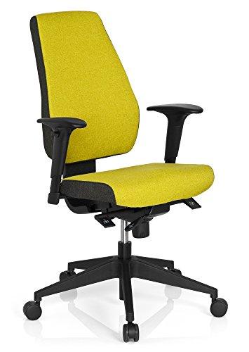 HJH Office - Sedia direzionale da ufficio Pro-Tec 500, rivestimento in tessuto grigio scuro/verde
