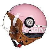 Motorradhelm Männer und Frauen Half-Covered Halbe Helm Prince Helm Retro Elektroauto Vier...