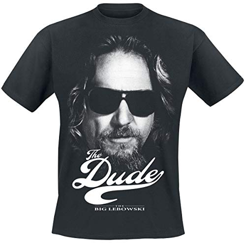 Officially Licensed Merchandise Lebowski The Dude II T-Shirt (Black), Medium