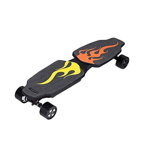 CuiCui Longboard Elektro-Skateboard 4-Rad Elektroroller Tempomat Doppeltreiber Adult Elektroroller Faltbar,Rot