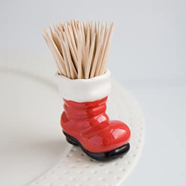 Nora Fleming Santa's Boot Mini - Big Guy's Boots - Hand-Painted Ceramic Charm - A89
