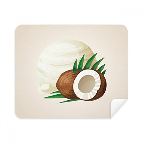 Leaves Coconut Ice Popsicles Cleaning Cloth Screen Cleaner 2pcs Suede Fabric