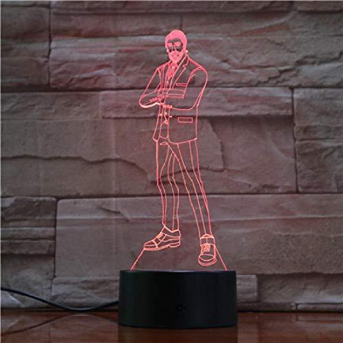 Aoyuhf Männer In Anzügen 3D-Licht Led Tischlampe Illusion Nachtlicht 7 Farben Wechselstimmung Lampe Usb-Lampe