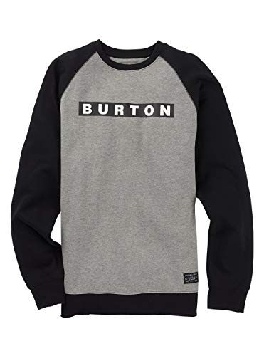 Burton Herren Vault Sweatshirt, Gray Heather, XS