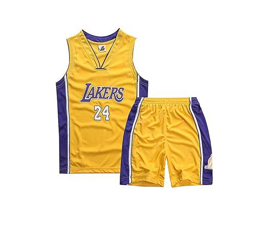 TYTF Maglia da basket senza maniche per bambini, in rete, uniforme e pantaloncini estivi da 1 a 15 anni