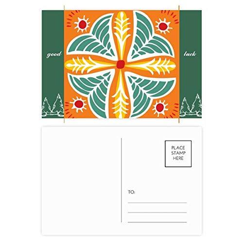 Postkarten-Set mit Blumen, Mexiko-Totems, antike Zivilisation, Glücksbringer, 20 Stück