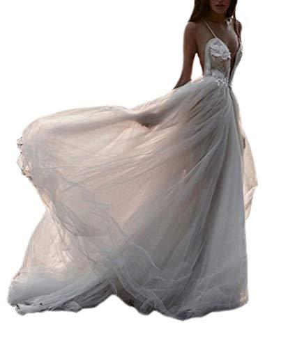 Vestidos De Novia Sesión De Fotos Mujer Moda Largo Vestidos Sling Cuello...