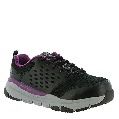 Skechers Work Soven Alloy Toe Black/Purple 9