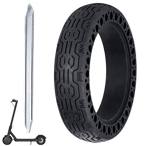 Coolty 8,5 Zoll Reifen Felge, Ersatz Solide Verschleißfest Ersatzreifen mit 1 Felgenheber für Xiaomi M365 Elektro Scooter Gummi Solid Tyre Reifen Ersatzräder