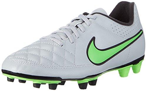 Nike Herren Tiempo Rio II Fußballschuhe, Grau (Wolf Grey/Green Strike-Blk-Blk 030), 44 EU