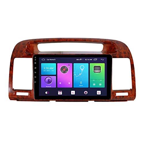 Android 10.0 Car Stereo, Radio compatible con Toyota Camry 2002-2005 Navegación GPS Unidad principal de 9 pulgadas Reproductor multimedia MP5 Receptor de video Rastreador con 4G WIFI DSP Mirrorlink