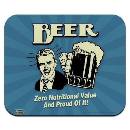Mausmatte, Bier Null Nährwert Stolz darauf Low Profile Thin Mouse Pad