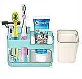 Soporte de cepillo de dientes de baño para niños cepillo de dientes y pasta de dientes organizador con lápiz