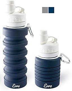 Evro 可折叠水杯,不含 BPA,FDA 认证食品级硅胶环保便携式防漏旅行运动水瓶