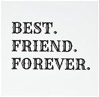 Xanderインスピレーション引用符–Best Friend Forever、ブラックLettering onホワイト背景–グリーティングカード Set of 6 Greeting Cards