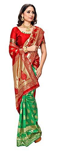 EthnicJunction Women's Jacquard Silk Saree With Blouse Piece